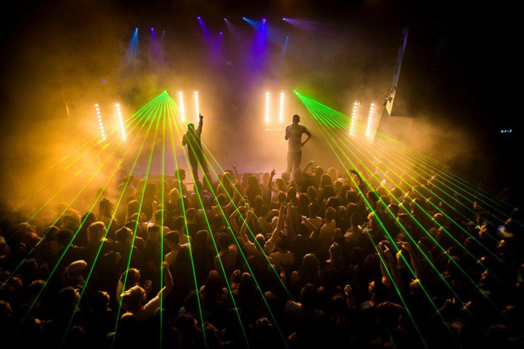 concert met laserstralen